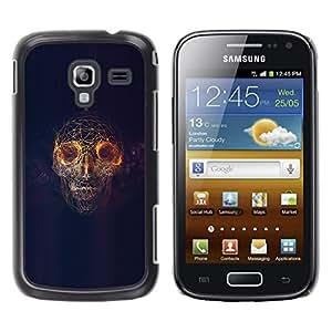 Caucho caso de Shell duro de la cubierta de accesorios de protección BY RAYDREAMMM - Samsung Galaxy Ace 2 - Psicodélico cráneo Luz