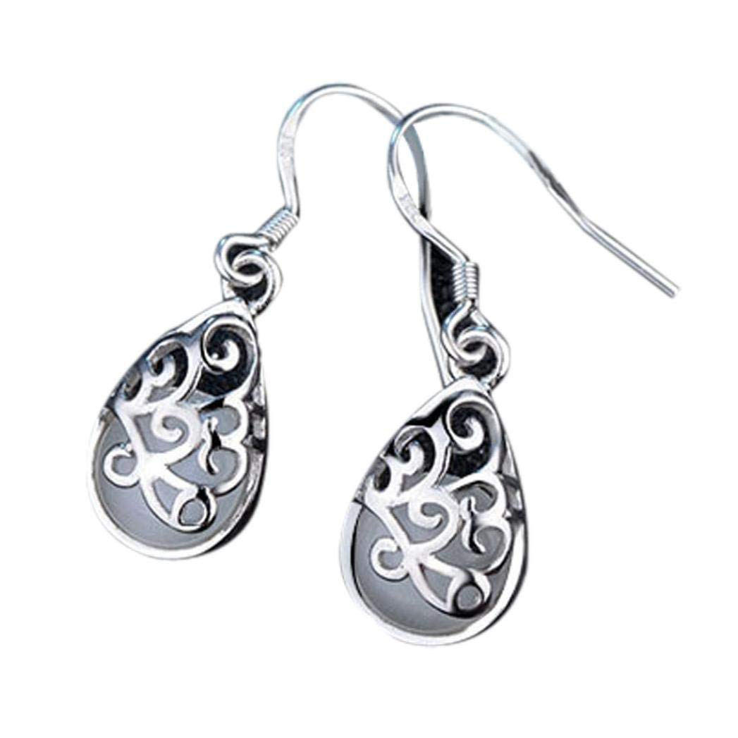 FRC0LT Clearance! Wedding Cat Eye Style Fashion Wishing Pool Wedding Earrings Jewelry (White, alloy)