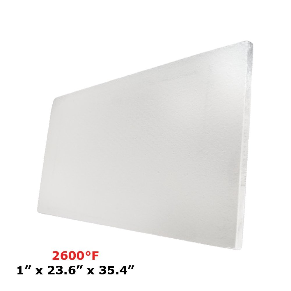Thermal Insulation Board (2600F) (1'' x 23.6'' x 35.4) for Wood Ovens, Stoves, Forges, Kilns, Furnaces