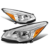 For Ford Escape Third Gen Pair of Headlight Chrome Housing Amber Corner Lamps