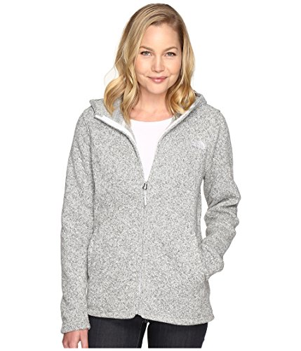 - The North Face Crescent Full Zip Hoodie Women's Lunar Ice Grey Heather Medium