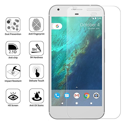 Google Pixel 2 Screen Protector, Hoperain - Bubble Free, 9H Hardness, Fingerprinting, Full Coverage, Easy-Mount, HD Transparent Tempered Glass Screen Protector for Google pixel 2 [Full Rim] Photo #5