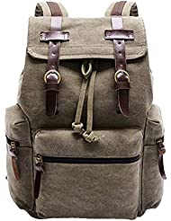 Tobey Unisex Retro Vintage Travel Canvas Backpack Sport Rucksack School Bag