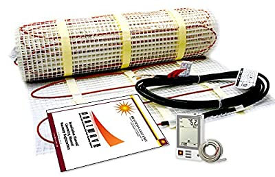 Electric Floor Heating System with Required GFCI Programmable Thermostat 120V