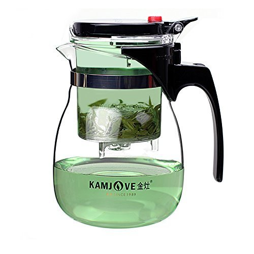 Kamjove Glass Gong Fu Tea Maker Press Art Cup Teapot with Infuser TP-757