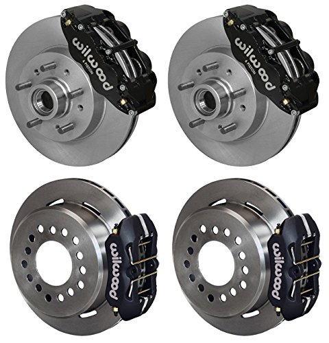 "NEW WILWOOD DISC BRAKE KIT, 11.86"" FRONT & 11"" REAR ROTORS, BLACK 6 & 4 PISTON CALIPERS, LINES, 1964 1965 1966 1967 1968 1969 1970 CHEVY C10 PICKUP PANEL SUBURBAN GMC 1000 SERIES C15 C1500 4x2 5-LUG -  Southwest Speed, 140-14474_11385"