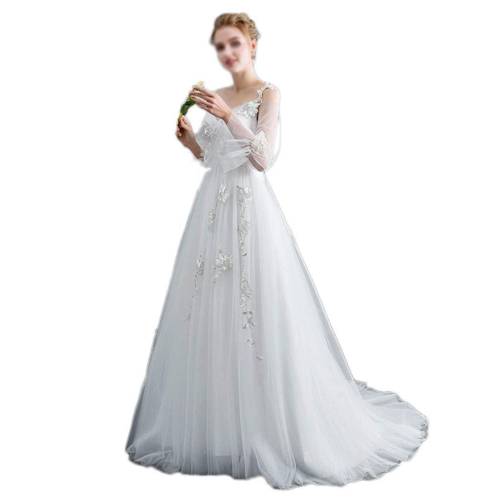 Amazon Wedding Dress Winter Shoulder Simple Veil Bride Princess