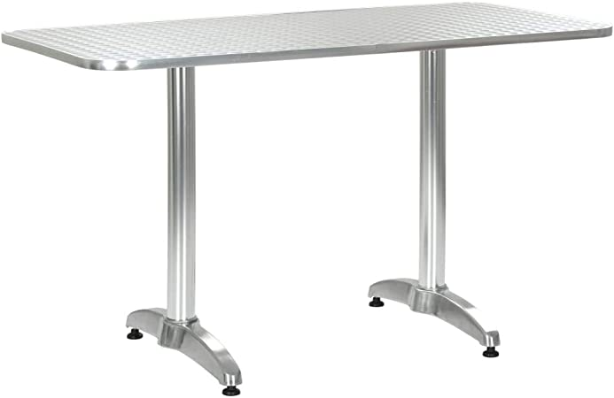 de à Manger de de Table de Bistro Aluminium Table Table Meuble cm Jardin d'Extérieur vidaXL Balcon Intérieur Pub Bar Terrasse Mobilier Salle 120x60x70 I29DYeHbWE