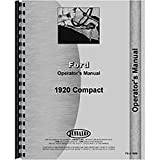 New Ford 1920 Compact Tractor Operators Manual