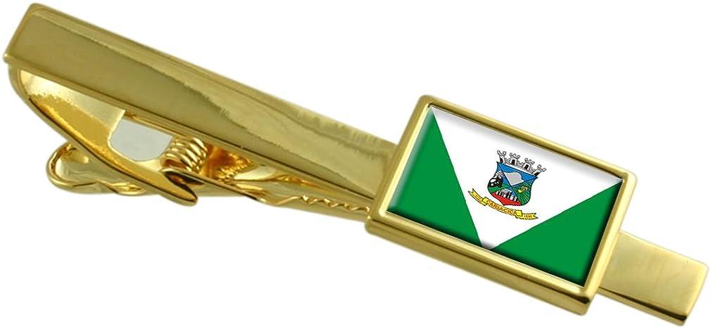 Cariacica City Espirito Santo State Flag Gold-tone Tie Clip Engraved Personalised