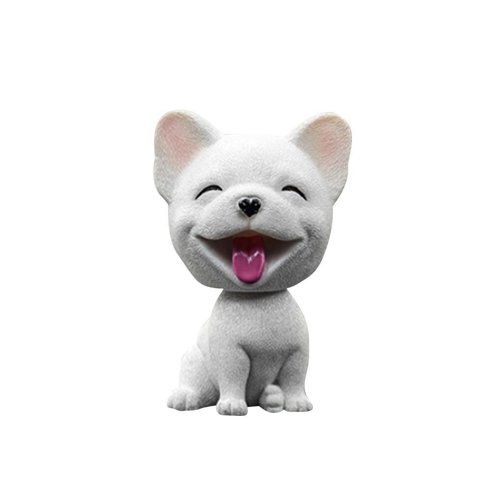 FancyU Car Nodding Dog Doll Cane Sveglio che Agita Bobble Head Dogs Puppy Car Interior Cruscotto Decorazione Cute Dog Ornamenti Regali Creativi per Auto e Home Desk Docoration Teddy-White