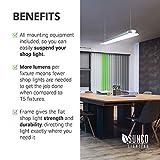 Sunco Lighting 12 Pack Flat LED Shop Light, 4