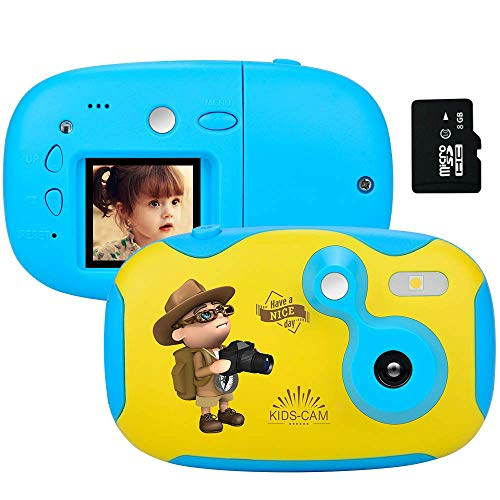 AMKOV DIY Kids Camera Rechargeable Digital Mini Camera Children Creative Camcorders with 1.44 Inch LCD Screen Video Recorder Reset Button for Girls//Boys