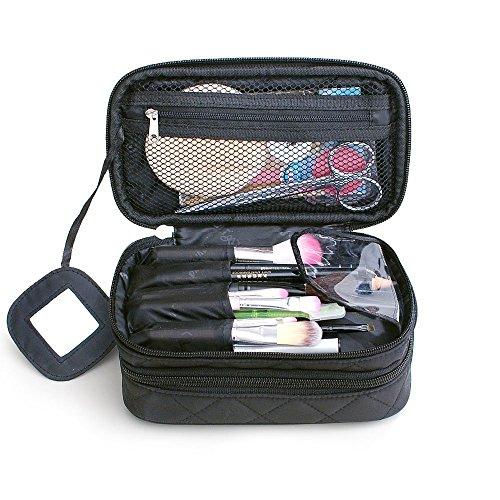 Monstina Cosmetics Bag,Double Layer Makeup Bag, With -2134