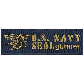 Parches bordados Parche–US Navy Seal gummer–Talla aprox. 12,5cm x 4cm (00859) Military Militar Ejército Army Ejército Bundeswehr Marino