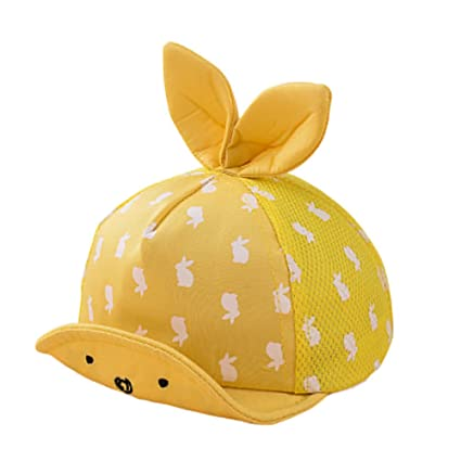a635f505300 Amazon.com   ink2055 Cute Cartoon Rabbit Ear Baby Infants Cap Sunscreen  Toddler Printing Snapback Hats   Office Products
