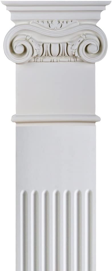 DreamWallDecor Decorative Interior Column One Full Column Made from Dense Architectural Polyurethane Compound 7 inch Shaft