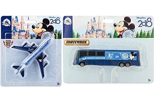 Disney Matchbox Plane 2018 Disney Theme Parks - Walt Disney Parks 2018 Edition Matchbox Model Bus Transportation Exclusive Die-Cast 2-Pack - Exclusive Edition Ship Model