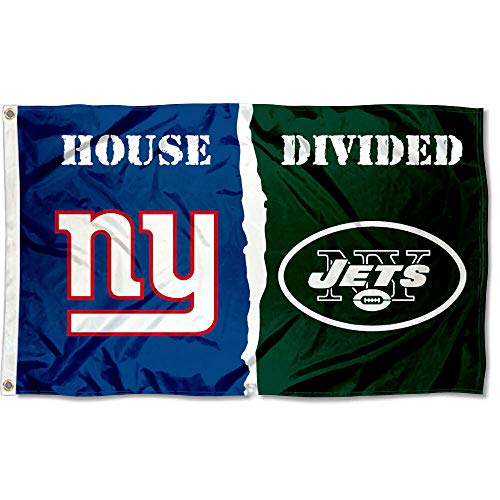 WinCraft NY Giants and New York Jets House Divided Flag