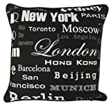 Modern Black New York Hot Cities Decorative Pillow Case Art Cushion Cover Sham