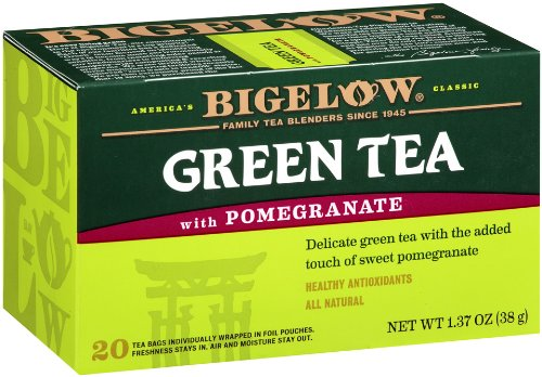 Bigelow Green Tea with Pomegranate, 20-Count Boxes
