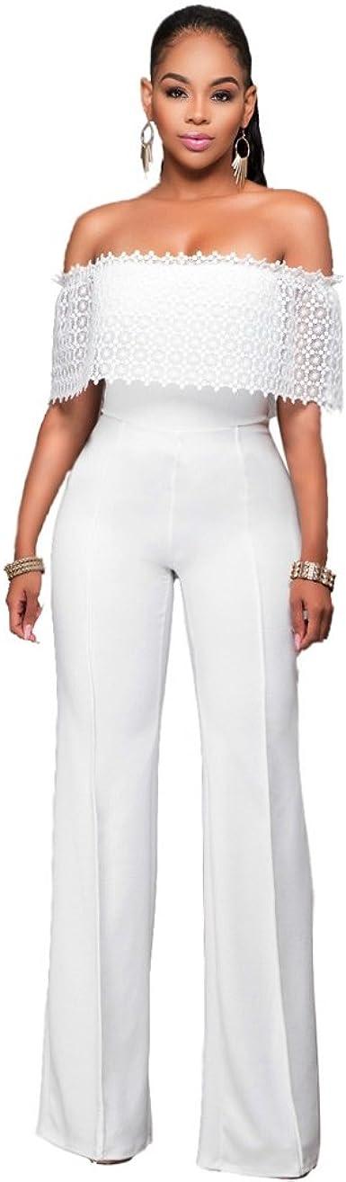 Amazon Com Vestidos Enterizos Largos Ropa De Moda Para Mujer De Fiesta Sexys Blancos Negros Casuales Formales Elegantes Ve0058 L Clothing