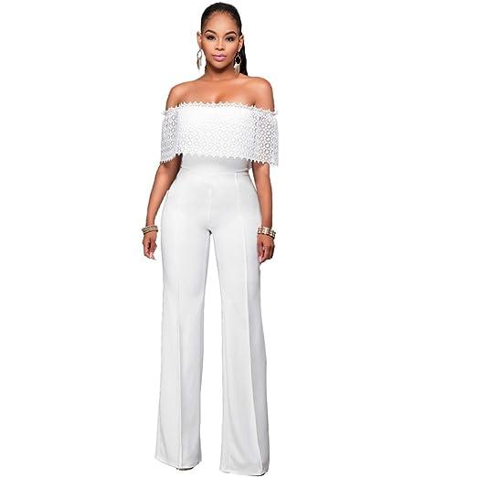 Vestidos Enterizos Largos Ropa De Moda Para Mujer De Fiesta Sexys Blancos Negros Casuales Formales Elegantes VE0058 at Amazon Womens Clothing store: