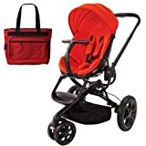 Quinny CV078BHR Moodd Stroller in Red Envy With a Diaper Bag