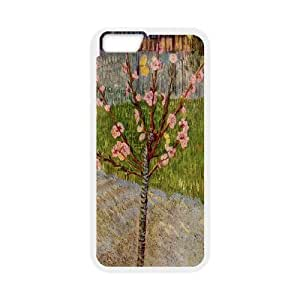 Van Gogh Art Series,iPhone 6 Case,Van Gogh Art Almond Tree in Blossom 1888 Phone Case For iPhone 6[White]