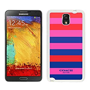 Fashionable Coach 2 White Samsung Galaxy Note 3 N900A N900V N900P N900T Screen Cellphone Case Durable and Melting Cover