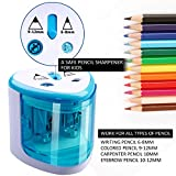 Electric Pencil Sharpener,Heavy duty Blades Durable and Portable Pencil Sharpener with Automatic Sharpens All Pencils for School Kids Children ,Blue Pencil Sharpener Electric