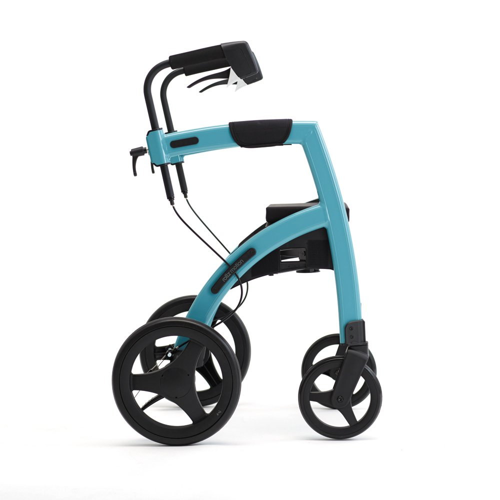 Rollz Motion 2-in-1 rollator and Wheelchair (Island Blue, Regular)