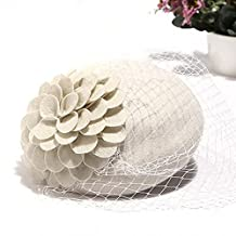 Osye Fascinator Hair Pillbox Hat Lady Felt Cocktail Party Wedding Church Hat Hairpin