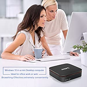 MINI PC,ACEPC AK1 Slice Mini Desktop Computer Windows 10 (64-bit) Built-in Intel Celeron Apollo Lake J3455 Processor 4GB/32GB,Supports Dual Wifi, 4K,HDMI Output