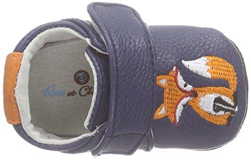 Rose & Chocolat Fox Baby Jungen Krabbelschuhe Blau (Navy)