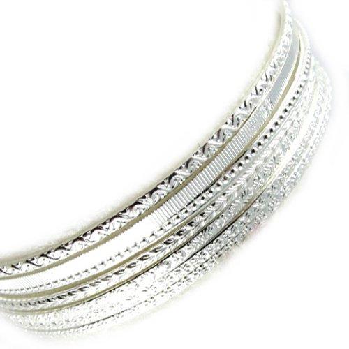 Altesse [L0664] - Bracelet argent 'Semainier' - 6 cm 7 rangs