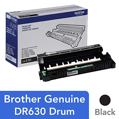 Photoconductor Image Drum - Brother Genuine Drum Unit, DR630, Seamless Integration, Yields Up to 12,000 Pages, Black