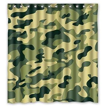 Youbi fenêtre Rideau Vert Imprimé camouflage de chasse Hunter Style ...