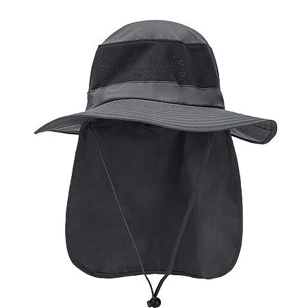 MMCP Cara al Aire Libre Cuello Solapa Sombrero, Sombrero de ...