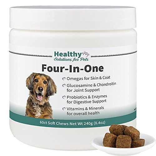 Healthy Solutions For Pets Complete Health Vitamin & Supplement for Dogs, Joint Health, Digestive Health, Skin & Coat Health and Overall Vitamin & Mineral Support, 120ct, Made in the USA