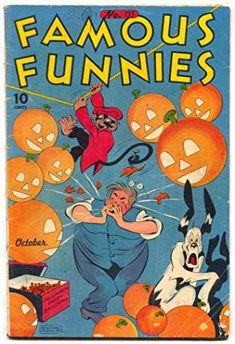 Famous Funnies #135 1945- HALLOWEEN COVER- Carlson VG -