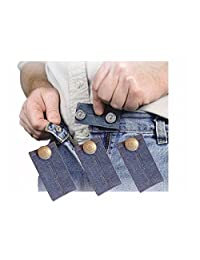 Denim Jean Waist Extender Set of 3 for Men or Women with Nickel Finished Metal Button