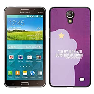 // PHONE CASE GIFT // Duro Estuche protector PC Cáscara Plástico Carcasa Funda Hard Protective Case for Samsung Galaxy Mega 2 / purple funny text quote star drama acting /