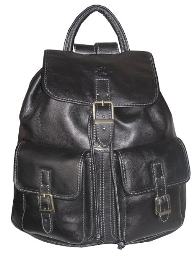 cuir à femme 32543en sac dos noir f7nZqdBIw