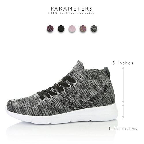 Shoes Top Foam Mesh Walking high Grey on DailyShoes Women's Memory Sneakers Slip x1Pqn86Y0