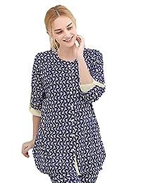 Chickle Women's Nursing Maternity 2 Piece Homewear Pajamas Set