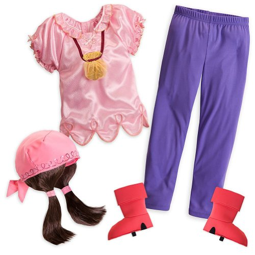 Disney Store Izzy Halloween Costume Size XS 4/4T Jake and the Never Land Pirates
