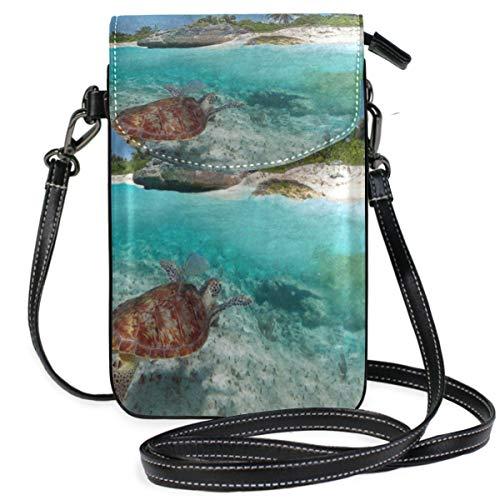 Phone Purse Mini Cell Phone Pouch Tropical Beach Ocean Sea Turtle for Women -