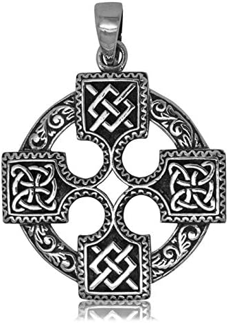 Talismanic Silver of London Pendentif Croix Celtique en Argent Massif Sterling 925