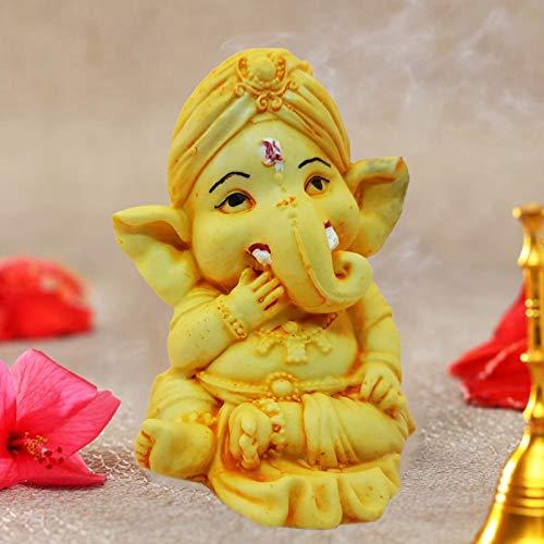 Ascension ® Handcrafted Ochre Bal Ganesha Beautiful Lord Ganesha for Home & Office Decor Idol Figurine Showpiece…